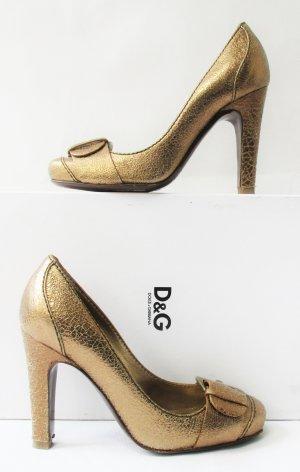 Orig. D & G Dolce & Gabbana Pumps/Gold/36/wie NEU!