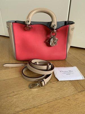 Orig DIOR SAC Handtasche Tasche Harlekin Diorissimo wNeu fuchsia 3490€ Leder Crossbody Lady Diorama