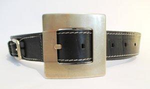 """Orig. Dolce & Gabbana Biker-Rockgürtel """"Black Label"""" /Leder/Metall/Schwarz/90 cm"""