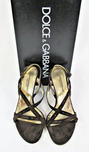 Orig. Dolce & Gabbana Sandalen / Veloursleder / Braun / Gr.36.5 /wie NEU!