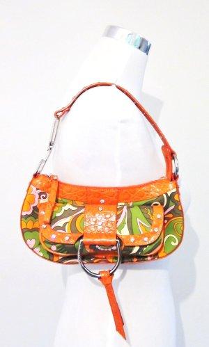 Orig. Dolce & Gabbana Schultertasche/Leder/Textil/Swarovski Steine/wie NEU!