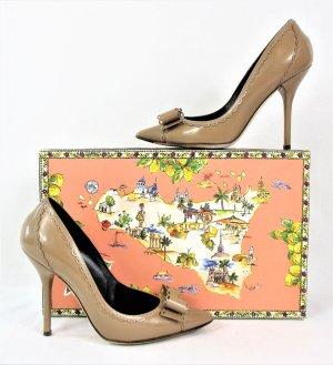 """Orig. Dolce & Gabbana """"Sicily"""" Pumps / Leder/ Beige-Camel / Gr.36/ wie NEU!"""