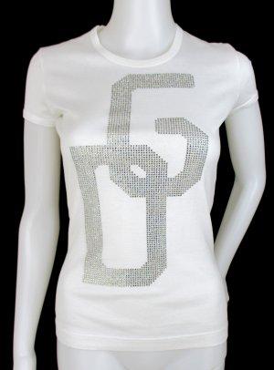 """Orig. Dolce & Gabbana T-Shirt""""Black Label Linie/ Baumwolle/Swakovski/Weiss"""