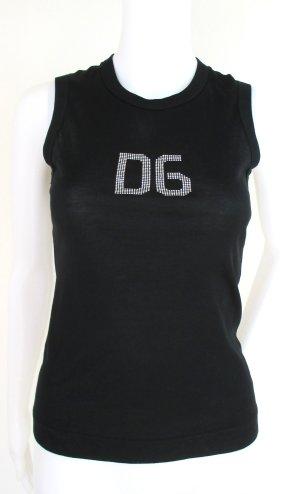 """Orig. Dolce & Gabbana Tanktop""""Black Label Linie/ Baumwolle/Swakovski/wie NEU!"""