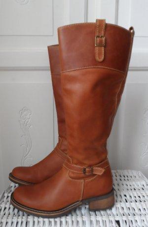 Eddie Bauer Jackboots cognac-coloured leather