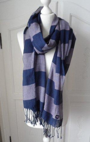 Pashmina bleu foncé-bleu coton