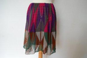 Etro Jupe tricotée multicolore coton
