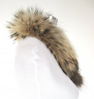 Hooded Scarf multicolored fur