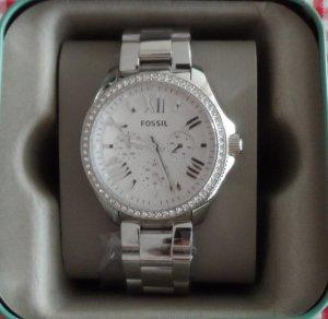Fossil Horloge zilver-wit Edelstaal