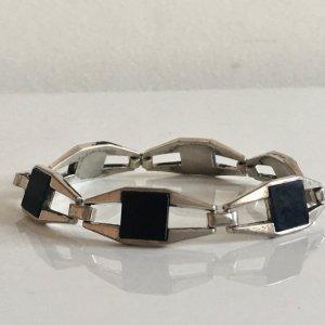 Vintage Zilveren armband zwart-zilver Zilver