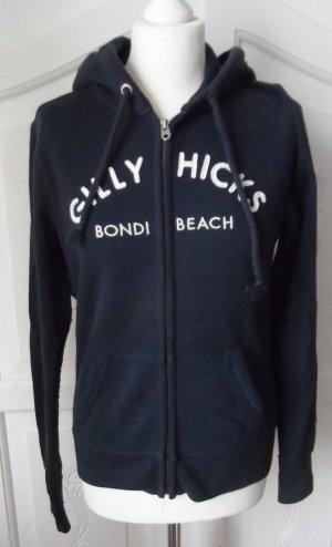 orig. Gilly Hicks Sweatjacke Gr. L Dunkelblau Weiß wenig getragen
