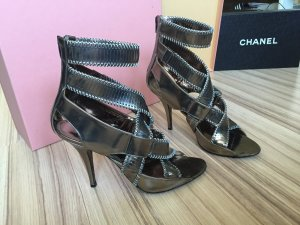 *Orig. GIVENCHY MetalLic Gladiator BLOGGER Sandalen Pumps * Gr. 40 * NP 690,-