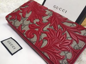 Gucci Portafogli rosso scuro-color cammello