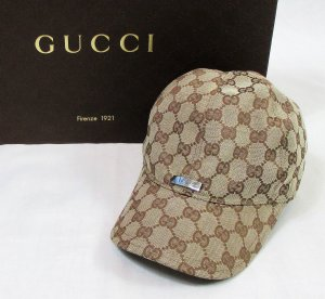 Orig. Gucci GG Baseballcap/Beige/Baumwolle/Polyester/Gr. S/ Hervorragend!