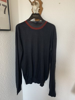 Orig GUCCI Pullover Pulli S schwarz wolle Seide  36/38 Couture 599€