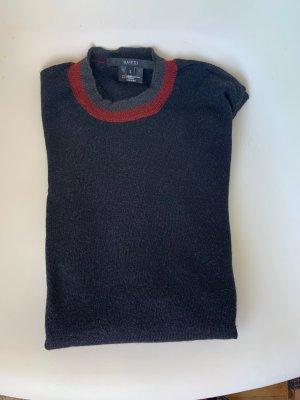 Gucci Kraagloze sweater zwart-rood Zijde
