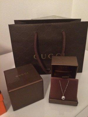 """Orig. Gucci Weißgold Collier """" Icon Bold"""" 18K Gold- letzter Preis"""