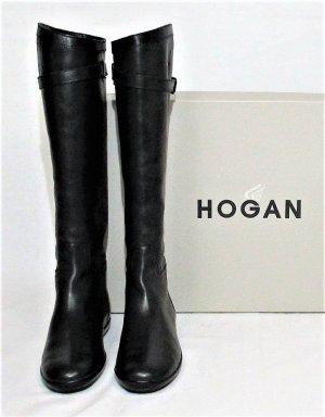 Orig. Hogan Stiefel /100% Leder / schwarz/ HERVORRAGEND!