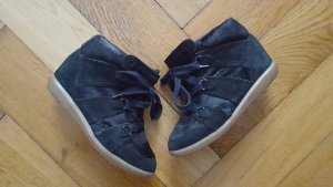 Orig. Isabel Marant Bluebel Sneaker 39 38 Schwarz Echtleder hidden wedge