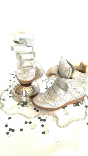Wedge Sneaker silver-colored