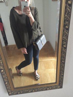 Orig ISABEL MARANT Hippie Pullover Grobstrick Khaki Häkel Pulli 289€ oversize