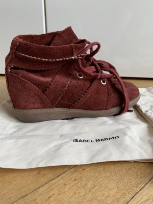 Isabel Marant Wedge Sneaker bordeaux suede