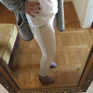 Orig. J Brand Allegra ankle Skinny Jeans Gr.25 Röhre Hose casey weiß cropped
