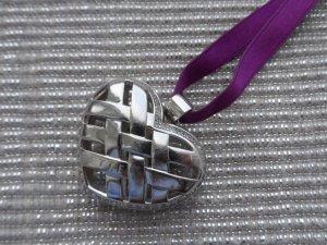 orig. Jette Joop Herzanhänger 925 Silber mit Zirkonia wenig getragen