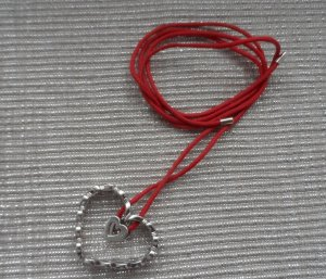 Jette Joop Necklace silver-colored-red real silver