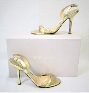 Orig.Jimmy Choo Jasmin Sandalen/Metallic-Leder/Gold/Gr.36/Sold out!