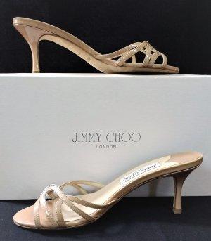 Orig. Jimmy Choo Mules Ivana/Patentleder /Nude/Beige/Gr.36,5/Hervorragend!
