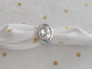 orig. JOOP! Ring Gr. 55 aus 925 Silber m. facettierten klaren Zirkonia wenig getragen
