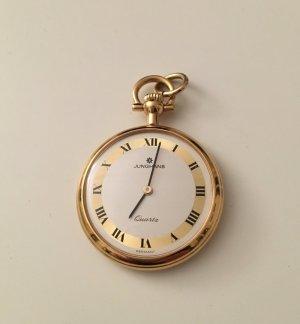 orig. Junghans Vintage Taschenuhr Uhr gold mit römischen Ziffern