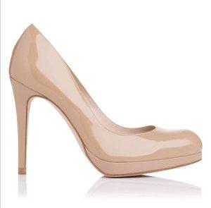 Orig. Kate Middleton Sledge Pumps L.K. Bennett Plateau high Heels hochzeit nude