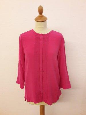 Orig Kiomi 100% Seide Bluse 36 Neu pink magenta fuchsia Plissee
