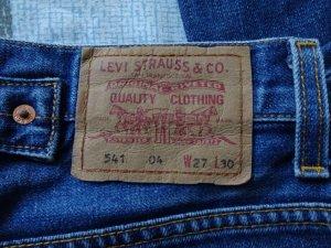 Levi's Hoge taille jeans blauw Katoen