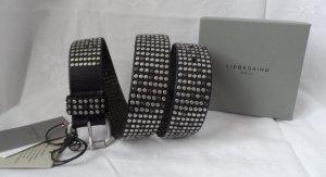 Liebeskind Berlin Studded Belt black-silver-colored leather