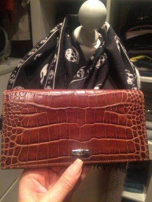 Longchamp Portemonnee bruin Leer