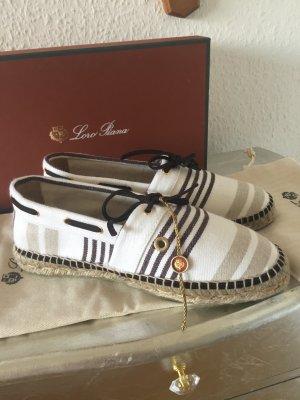 Orig LORO PIANA Ballerinas Espadrilles 38 Neu 380€ Schuhe Bast Cucinelli