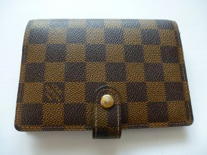 Orig Louis Vuitton Agenda Fonctionnel PM Damier Ebene Canvas wNEU