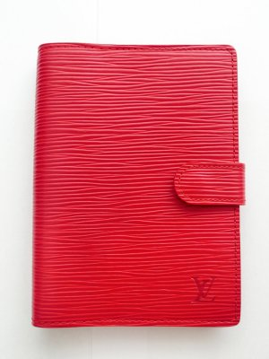 "ORIG. LOUIS VUITTON ""AGENDA FONCTIONNEL PM"" EPI LEDER ROT / SEHR GUT"