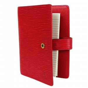 ORIG.LOUIS VUITTON AGENDA FONCTIONNEL PM LEDER ROT TIMER NOTIZEN / GUTER ZUSTAND