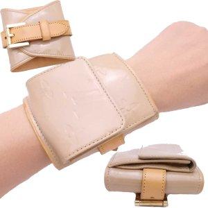 Louis Vuitton Bracelet brun sable cuir