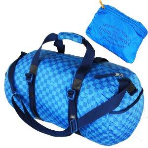 Louis Vuitton Reistas turkoois-lichtblauw Nylon