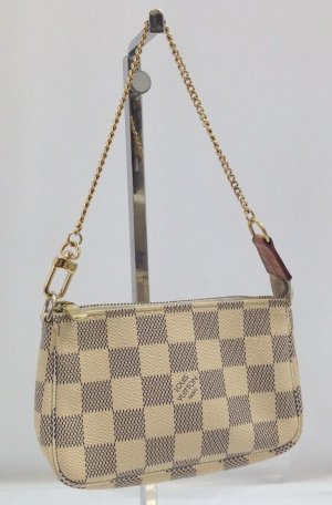 Louis Vuitton Clutch natural white-grey leather