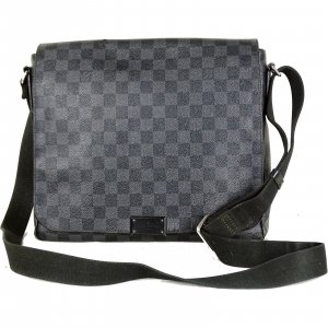 "ORIG. LOUIS VUITTON ""DISTRICT MM"" MESSENGER BAG DAMIER GRAPHITE CROSSOVER / GUTER ZUSTAND"