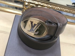 Louis Vuitton Cintura di pelle marrone