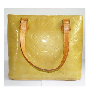 Louis Vuitton Carry Bag dark yellow leather