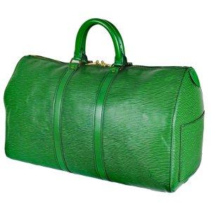 Louis Vuitton Reistas groen Leer