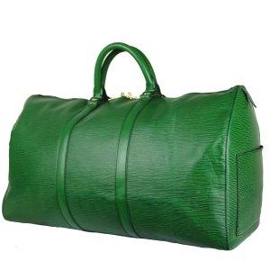 Louis Vuitton Travel Bag cadet blue leather